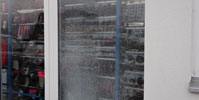 Reparaturverglasung--Schaufenster